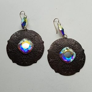 GYPSY queen MEDALLION XL OPAL EARRINGS NEW